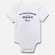 Police Heart: Mom Infant Bodysuit