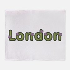 London Spring Green Throw Blanket