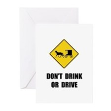 Amish Drink Drive Greeting Cards (Pk of 20)