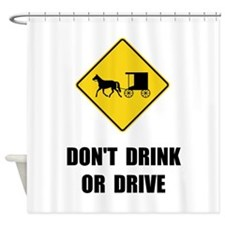 Amish Drink Drive Shower Curtain