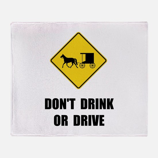 Amish Drink Drive Throw Blanket