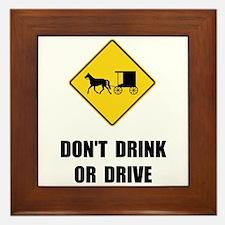 Amish Drink Drive Framed Tile