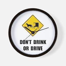 Amish Drink Drive Wall Clock