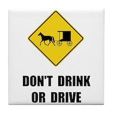 Amish Drink Drive Tile Coaster
