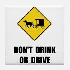 Amish Drink Drive Tile Coaster