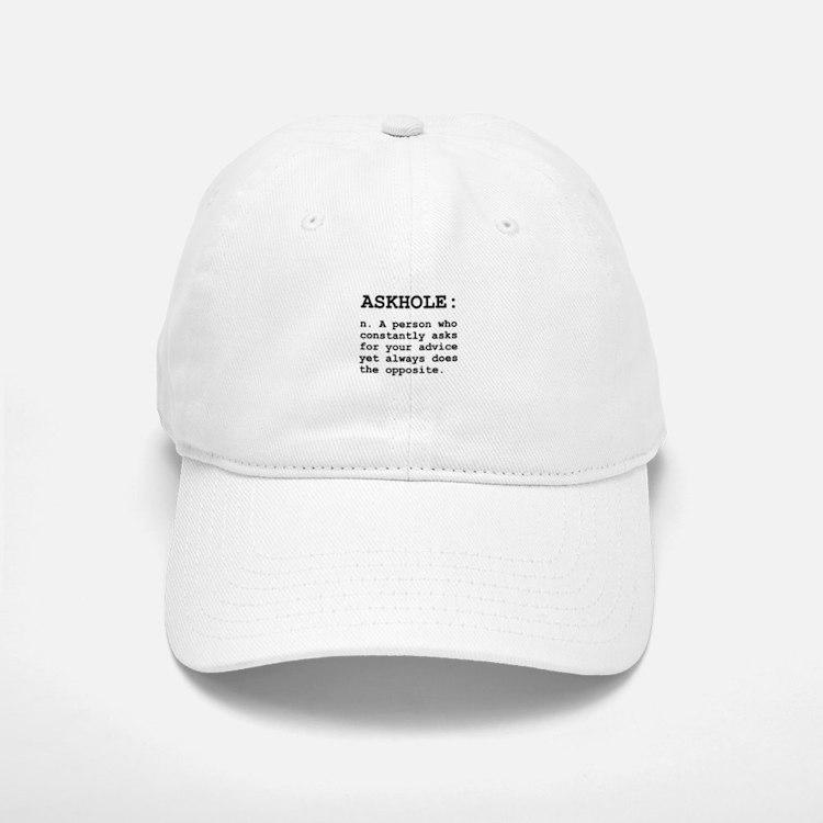 Askhole Definition Baseball Baseball Baseball Cap