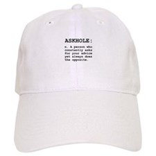 Askhole Definition Baseball Baseball Cap