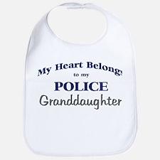 Police Heart: Granddaughter Bib