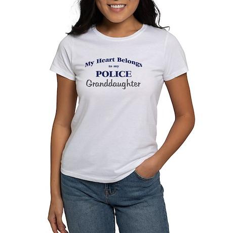Police Heart: Granddaughter Women's T-Shirt