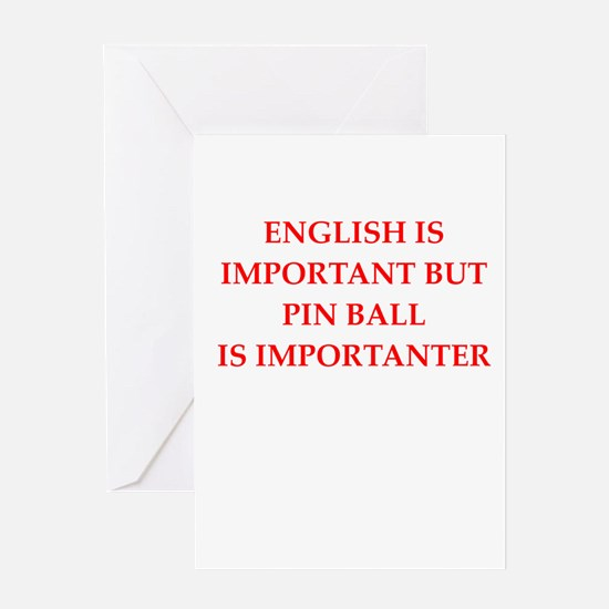 pin ball Greeting Cards