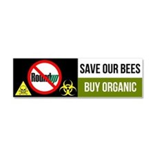 No RoundUp - Save our Bees car magnet
