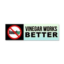 No RoundUp - Vinegar works better car magnet