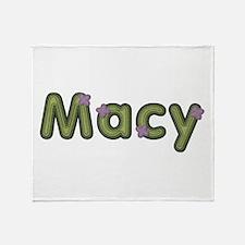 Macy Spring Green Throw Blanket