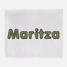 Maritza Spring Green Throw Blanket