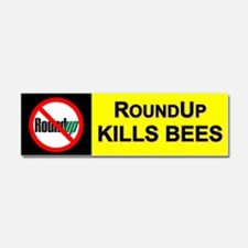 No RoundUp - RoundUp Kills Bees car magnet