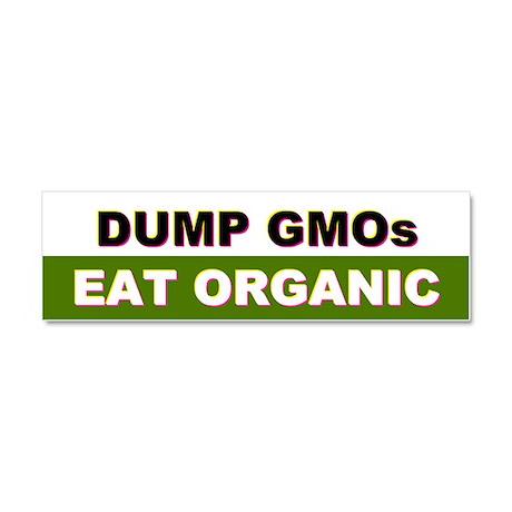 Dump GMOs car magnet