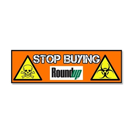 Stop Buying RoundUp car magnet