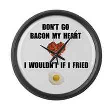 Bacon My Heart Large Wall Clock