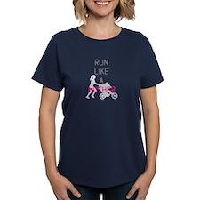 Run Like A Mother (Magenta) Tee