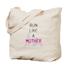 Run Like A Mother (Magenta) Tote Bag