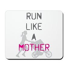 Run Like A Mother (Magenta) Mousepad
