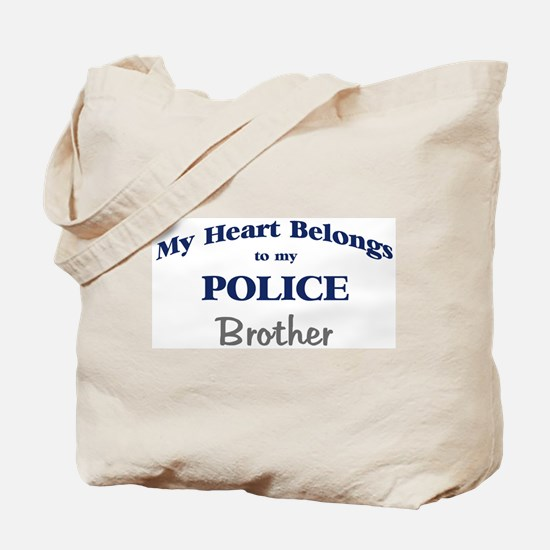 Police Heart: Brother Tote Bag