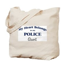 Police Heart: Aunt Tote Bag