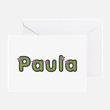 Paula Spring Green Greeting Card