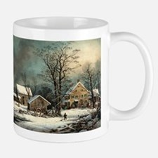 Winter in the country - a cold morning - 1863 Mug
