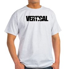 Vertical Black R22 Ash Grey T-Shirt