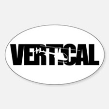 Vertical Black R22 Oval Decal