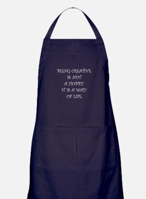 Being Creative Apron (dark)