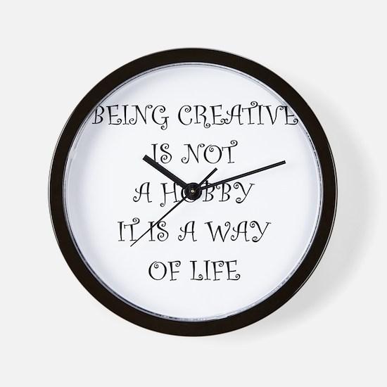 Being Creative Wall Clock