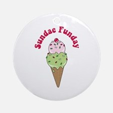 Sundae Funday Ornament (Round)