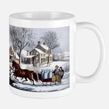 Winter morning in the country - 1873 Mug