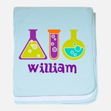 Personalized Scientist baby blanket