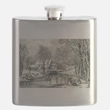 Winter pastime - 1870 Flask
