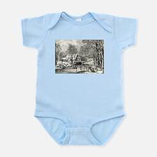 Winter pastime - 1870 Infant Bodysuit