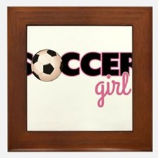 Soccer Girl Framed Tile