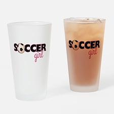 Soccer Girl Drinking Glass