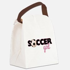 Soccer Girl Canvas Lunch Bag