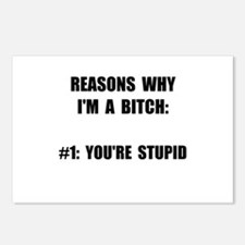 Bitch Stupid Postcards (Package of 8)