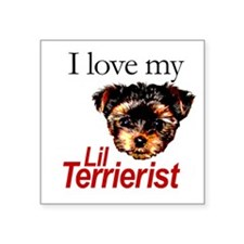 I Love My Little Terrierist Sticker