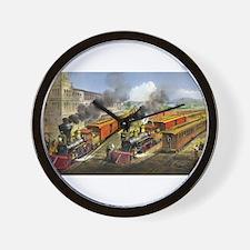 American railroad scene - lightning express trains