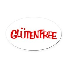 Gluten-Free Solidarity Oval Car Magnet