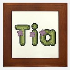 Tia Spring Green Framed Tile