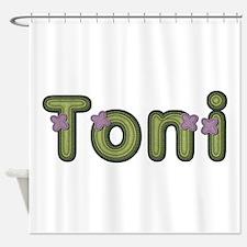 Toni Spring Green Shower Curtain