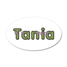 Tania Spring Green 20x12 Oval Wall Decal