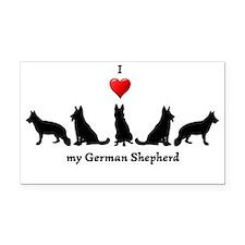 I love my German Shepherd Dog Rectangle Car Magnet