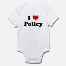 I Love Policy Onesie